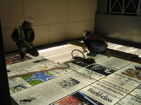 Backlit Floor with Glass and Custom Graphic Printed Surface