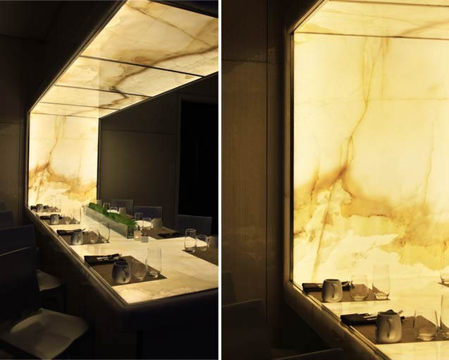 Backlit Onyx Table Feature
