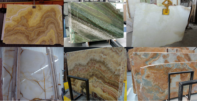 Natural Onyx Stone Slab Colors