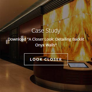 Backlit Onyx Walls Case Study