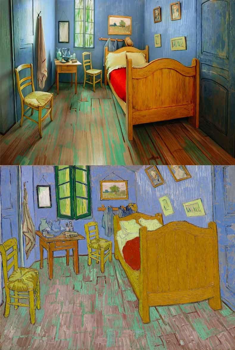 van-gogh-painting-to-real-life-bedroom-for-rent-airbnb