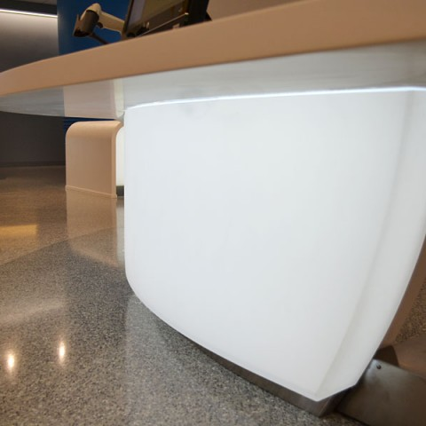 Backlit Curved 3Form Reception Desks