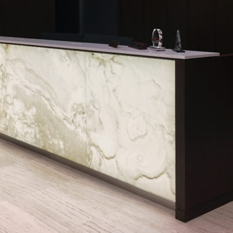 Backlit Onyx Reception Desk