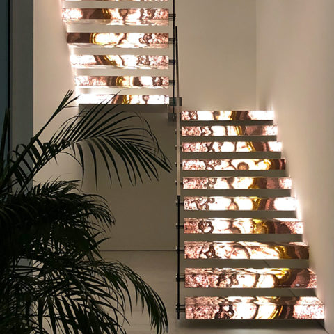 Backlit Onyx Staircase